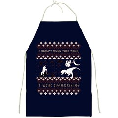I Wasn t Good This Year, I Was Awesome! Ugly Holiday Christmas Blue Background Full Print Aprons