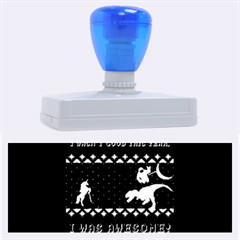 I Wasn t Good This Year, I Was Awesome! Ugly Holiday Christmas Blue Background Rubber Address Stamps (xl)