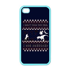 I Wasn t Good This Year, I Was Awesome! Ugly Holiday Christmas Blue Background Apple iPhone 4 Case (Color)