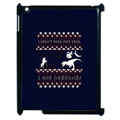 I Wasn t Good This Year, I Was Awesome! Ugly Holiday Christmas Blue Background Apple iPad 2 Case (Black)