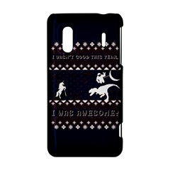I Wasn t Good This Year, I Was Awesome! Ugly Holiday Christmas Blue Background HTC Evo Design 4G/ Hero S Hardshell Case