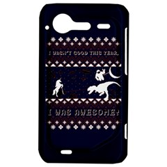 I Wasn t Good This Year, I Was Awesome! Ugly Holiday Christmas Blue Background HTC Incredible S Hardshell Case