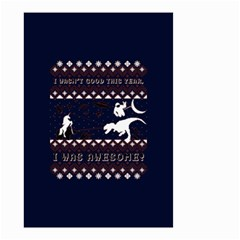 I Wasn t Good This Year, I Was Awesome! Ugly Holiday Christmas Blue Background Small Garden Flag (two Sides)