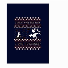 I Wasn t Good This Year, I Was Awesome! Ugly Holiday Christmas Blue Background Large Garden Flag (two Sides)