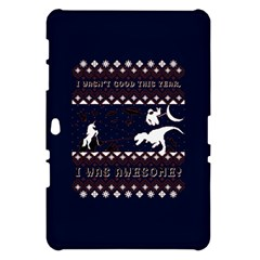 I Wasn t Good This Year, I Was Awesome! Ugly Holiday Christmas Blue Background Samsung Galaxy Tab 10.1  P7500 Hardshell Case