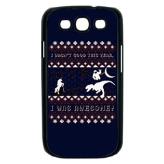 I Wasn t Good This Year, I Was Awesome! Ugly Holiday Christmas Blue Background Samsung Galaxy S III Case (Black)