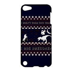 I Wasn t Good This Year, I Was Awesome! Ugly Holiday Christmas Blue Background Apple Ipod Touch 5 Hardshell Case