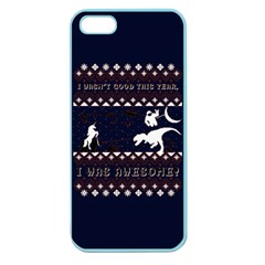 I Wasn t Good This Year, I Was Awesome! Ugly Holiday Christmas Blue Background Apple Seamless iPhone 5 Case (Color)