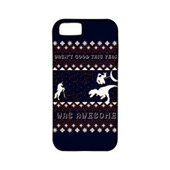I Wasn t Good This Year, I Was Awesome! Ugly Holiday Christmas Blue Background Apple Iphone 5 Classic Hardshell Case (pc+silicone)