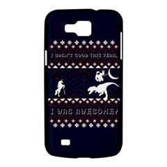 I Wasn t Good This Year, I Was Awesome! Ugly Holiday Christmas Blue Background Samsung Galaxy Premier I9260 Hardshell Case