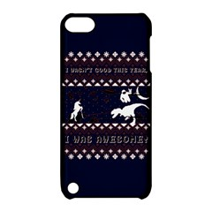 I Wasn t Good This Year, I Was Awesome! Ugly Holiday Christmas Blue Background Apple iPod Touch 5 Hardshell Case with Stand