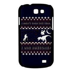 I Wasn t Good This Year, I Was Awesome! Ugly Holiday Christmas Blue Background Samsung Galaxy Express I8730 Hardshell Case