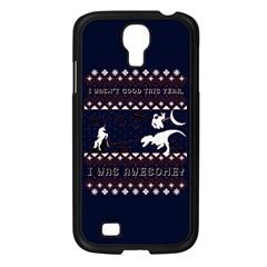 I Wasn t Good This Year, I Was Awesome! Ugly Holiday Christmas Blue Background Samsung Galaxy S4 I9500/ I9505 Case (black)