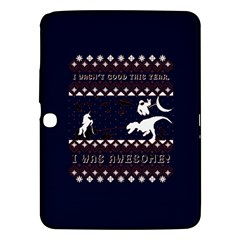 I Wasn t Good This Year, I Was Awesome! Ugly Holiday Christmas Blue Background Samsung Galaxy Tab 3 (10 1 ) P5200 Hardshell Case