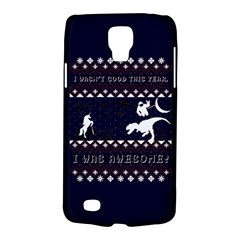 I Wasn t Good This Year, I Was Awesome! Ugly Holiday Christmas Blue Background Galaxy S4 Active
