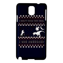 I Wasn t Good This Year, I Was Awesome! Ugly Holiday Christmas Blue Background Samsung Galaxy Note 3 N9005 Hardshell Case