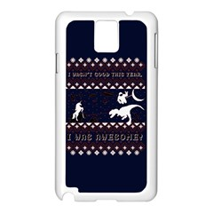 I Wasn t Good This Year, I Was Awesome! Ugly Holiday Christmas Blue Background Samsung Galaxy Note 3 N9005 Case (white)