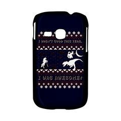 I Wasn t Good This Year, I Was Awesome! Ugly Holiday Christmas Blue Background Samsung Galaxy S6310 Hardshell Case