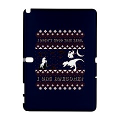 I Wasn t Good This Year, I Was Awesome! Ugly Holiday Christmas Blue Background Samsung Galaxy Note 10 1 (p600) Hardshell Case