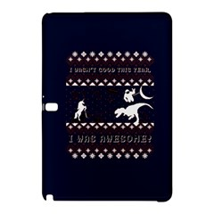I Wasn t Good This Year, I Was Awesome! Ugly Holiday Christmas Blue Background Samsung Galaxy Tab Pro 10 1 Hardshell Case