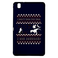 I Wasn t Good This Year, I Was Awesome! Ugly Holiday Christmas Blue Background Samsung Galaxy Tab Pro 8 4 Hardshell Case