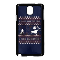 I Wasn t Good This Year, I Was Awesome! Ugly Holiday Christmas Blue Background Samsung Galaxy Note 3 Neo Hardshell Case (black)