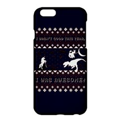 I Wasn t Good This Year, I Was Awesome! Ugly Holiday Christmas Blue Background Apple iPhone 6 Plus/6S Plus Hardshell Case