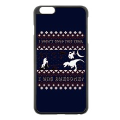 I Wasn t Good This Year, I Was Awesome! Ugly Holiday Christmas Blue Background Apple Iphone 6 Plus/6s Plus Black Enamel Case