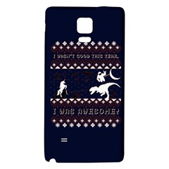 I Wasn t Good This Year, I Was Awesome! Ugly Holiday Christmas Blue Background Galaxy Note 4 Back Case