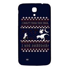 I Wasn t Good This Year, I Was Awesome! Ugly Holiday Christmas Blue Background Samsung Galaxy Mega I9200 Hardshell Back Case
