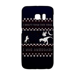 I Wasn t Good This Year, I Was Awesome! Ugly Holiday Christmas Blue Background Galaxy S6 Edge