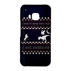 I Wasn t Good This Year, I Was Awesome! Ugly Holiday Christmas Blue Background HTC One M9 Hardshell Case