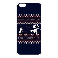 I Wasn t Good This Year, I Was Awesome! Ugly Holiday Christmas Blue Background Apple Seamless iPhone 6 Plus/6S Plus Case (Transparent)