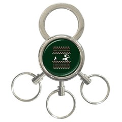I Wasn t Good This Year, I Was Awesome! Ugly Holiday Christmas Green Background 3 Ring Key Chains