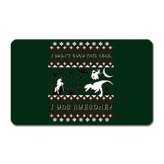 I Wasn t Good This Year, I Was Awesome! Ugly Holiday Christmas Green Background Magnet (Rectangular)