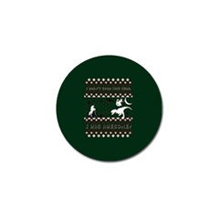 I Wasn t Good This Year, I Was Awesome! Ugly Holiday Christmas Green Background Golf Ball Marker