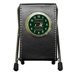 I Wasn t Good This Year, I Was Awesome! Ugly Holiday Christmas Green Background Pen Holder Desk Clocks