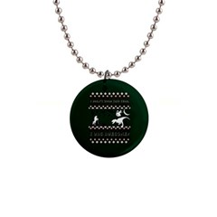 I Wasn t Good This Year, I Was Awesome! Ugly Holiday Christmas Green Background Button Necklaces