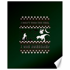 I Wasn t Good This Year, I Was Awesome! Ugly Holiday Christmas Green Background Canvas 16  X 20