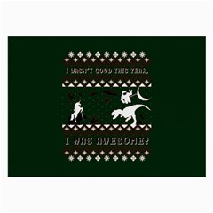 I Wasn t Good This Year, I Was Awesome! Ugly Holiday Christmas Green Background Large Glasses Cloth