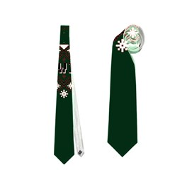 I Wasn t Good This Year, I Was Awesome! Ugly Holiday Christmas Green Background Neckties (One Side)
