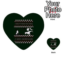 I Wasn t Good This Year, I Was Awesome! Ugly Holiday Christmas Green Background Multi Purpose Cards (heart)