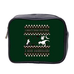 I Wasn t Good This Year, I Was Awesome! Ugly Holiday Christmas Green Background Mini Toiletries Bag 2-Side