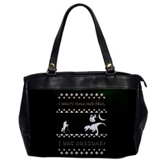 I Wasn t Good This Year, I Was Awesome! Ugly Holiday Christmas Green Background Office Handbags