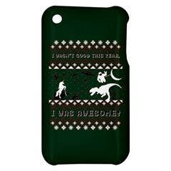 I Wasn t Good This Year, I Was Awesome! Ugly Holiday Christmas Green Background Apple iPhone 3G/3GS Hardshell Case