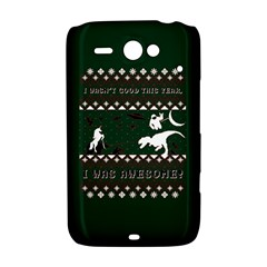I Wasn t Good This Year, I Was Awesome! Ugly Holiday Christmas Green Background HTC ChaCha / HTC Status Hardshell Case