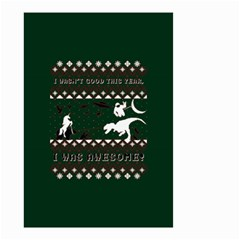 I Wasn t Good This Year, I Was Awesome! Ugly Holiday Christmas Green Background Small Garden Flag (two Sides)