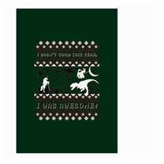 I Wasn t Good This Year, I Was Awesome! Ugly Holiday Christmas Green Background Large Garden Flag (two Sides)
