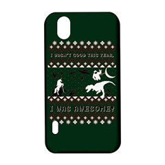 I Wasn t Good This Year, I Was Awesome! Ugly Holiday Christmas Green Background LG Optimus P970