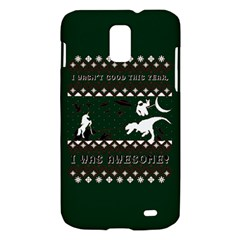 I Wasn t Good This Year, I Was Awesome! Ugly Holiday Christmas Green Background Samsung Galaxy S II Skyrocket Hardshell Case